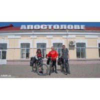 Токовские водопады – втроем на велосипедах