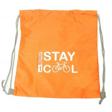Сумка-рюкзак карманная 10л оранжевая Travel Extreme