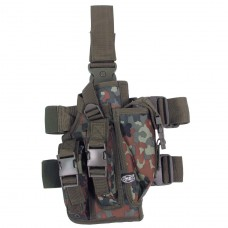 Кобура тактическая с подсумками, с креплениями к ноге и ремню MFH флектарн
