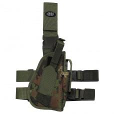 Кобура для пистолета набедренная регулируемая правосторонняя vegetato MFH