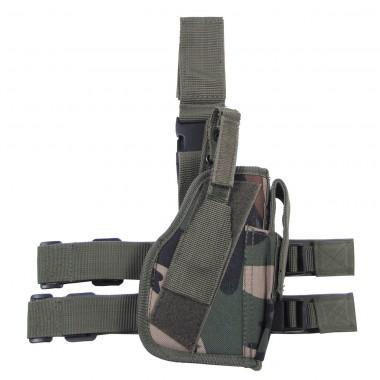 Кобура для пистолета набедренная регулируемая правосторонняя лесной камуфляж MFH