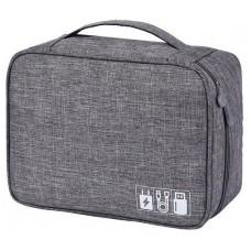 Дорожная сумка для электроники серая