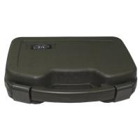 Кейс для пистолета пластиковый с застёжками большой тёмно-зелёный (олива) MFH