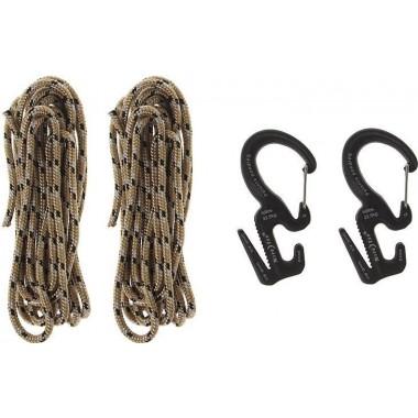 Фигура 9 с карабином маленькая (2шт.) Nite Ize + верёвка