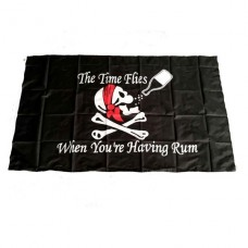 """Пиратский флаг """"The time flies when you're having rum"""" 90х150см"""