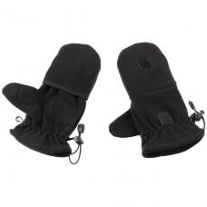 Перчатки флисовые с петлями чёрные MFH