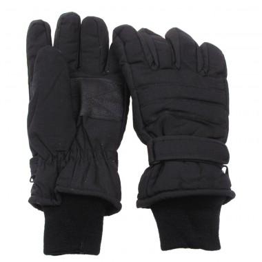 Перчатки с утеплителем и манжетой чёрные MFH