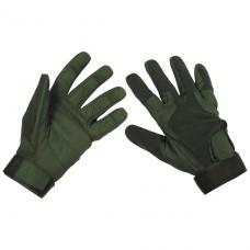 "Перчатки ""Stripes"" тёмно-зелёные MFH"