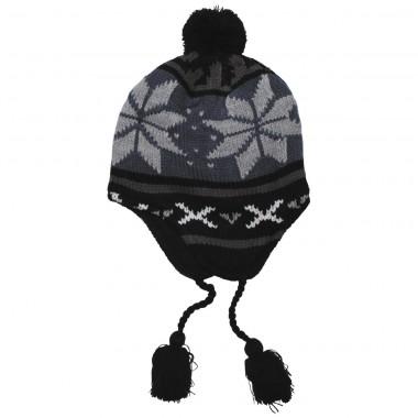 """Перуанская шапочка с флисовой подкладкой Fox Outdoor """"Peru Lima"""" синий/чёрный"""
