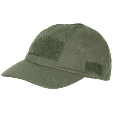 Кепка тактическая с липучками олива (тёмно-зелёная) MFH