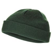 Шапка вязаная короткая тёмно-зелёная (олива) MFH