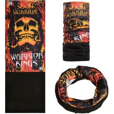 Зимняя мультиповязка (горловик) с флисом RockBros череп Warrior Kings