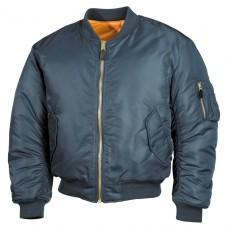 Классическая двухсторонняя куртка пилота США MA1 синяя MFH