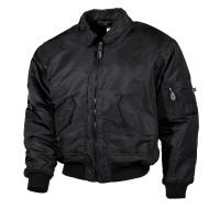 Классическая куртка пилота США US CWU Flight Jacket чёрная MFH