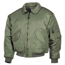 Классическая куртка пилота США US CWU Flight Jacket олива MFH