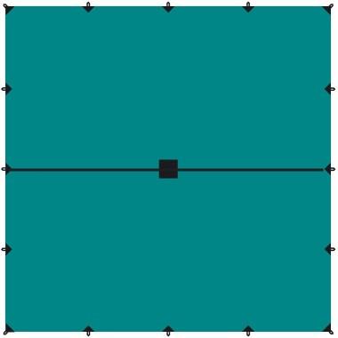Тент походный Tramp 6x6м зелёный